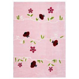 Happy Rugs Detský koberec kvety a lienky, 120x180 cm