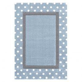 Happy Rugs Detský koberec s bodkami - strieborná modrá / sivá, 120x180 cm