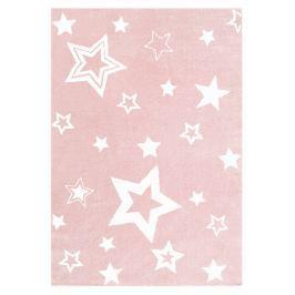 Happy Rugs Detský koberec ružový s bielymi hviezdami, 100x160 cm