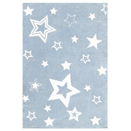 Happy Rugs Detský koberec modrý s bielymi hviezdami, 100x160 cm