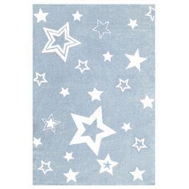 Happy Rugs Detský koberec modrý s bielymi hviezdami, 130x190 cm