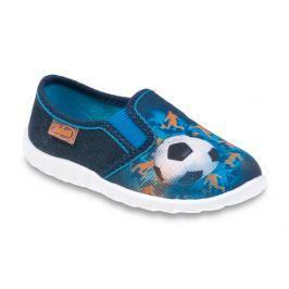 Befado Chlapčenské papučky s futbalovou loptou Flexi - modré