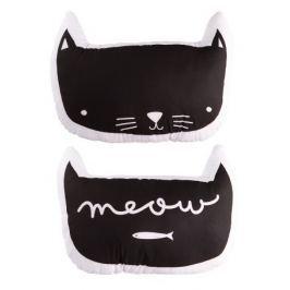 Little Lovely Company Vankúšik Čierna mačka, 43,5 x 34 cm