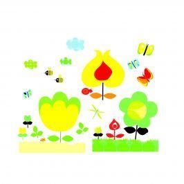 Djeco Samolepky na stenu Žltá záhrada