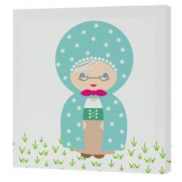 Mr. FOX Nástenný obraz Grandma - babička, 27x27 cm