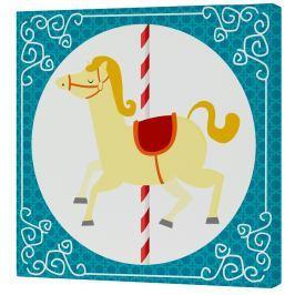 Mr. FOX Nástenný obraz Spit Spot - žltý kôň, 27x27 cm