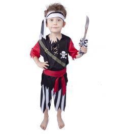 Rappa Karnevalový kostým pirát so šatkou vel. M