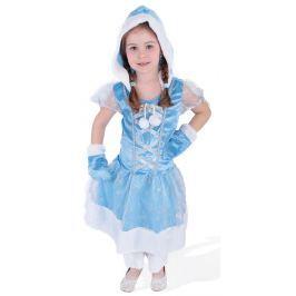 Rappa Karnevalový kostým princezná Kožíšková zimné kráľovstvo, veľ. S