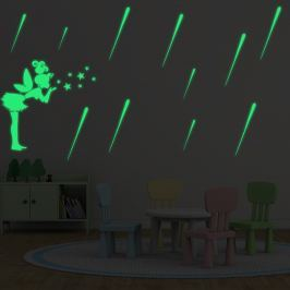 Walplus Svietiaca samolepka na stenu Meteorický dážď a Víla s hviezdami