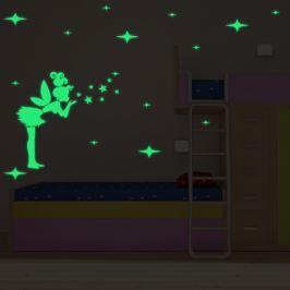 Walplus Svietiaca samolepka na stenu Víla s rôznymi hviezdami