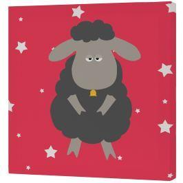 Baleno Nástenný obraz Little Sheep - čierna ovečka, 27x27 cm