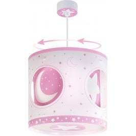 Dalber Detské rotujúce závesné svietidlo lamp Moon Pink