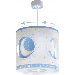 Dalber Detské rotujúce závesné svietidlo Moon Blue