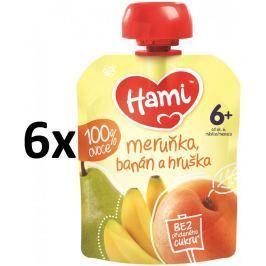Hami Kapsička marhuľa, banán a hruška 6x90g