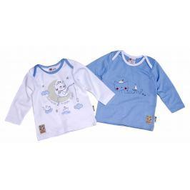 Gelati Detský komplet 2 ks tričiek Welcome - bielo-modrý