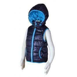 PIDILIDI Chlapčenská prešívaná vesta s odopínacou kapucňou - tmavo šedá