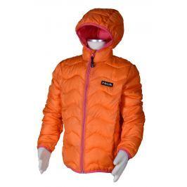 PIDILIDI Dievčenská nylonová prešívaná bunda - oranžová