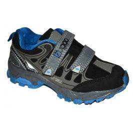 Bugga Chlapčenská softshellová obuv - modro-šedá