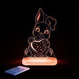 Aloka Nočné svetielko Zajačik so srdiečkom + ovládač pre voľbu farieb