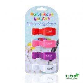 T-tomi Kočíkový štipček, červená + ružová + fialová + biela