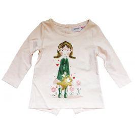 Minoti Dievčenské tričko Pretty 1 s dievčatkom - svetlo ružové