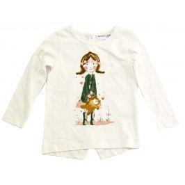 Minoti Dievčenské tričko Pretty 1 s dievčatkom - svetlo béžovej