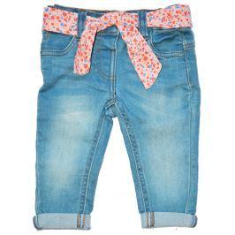 Minoti Dievčenské nohavice Pretty 5 so šatkou - modré