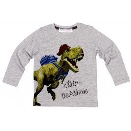 Minoti Chlapčenské tričko Dino 8 s dinosaurom - šedé