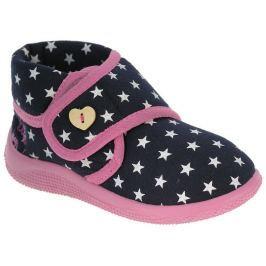Beppi Dievčenské papučky s hviezdičkami - tmavo modré