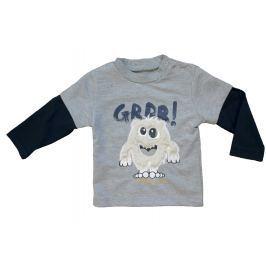 Carodel Chlapčenské tričko s príšerkou - šedé