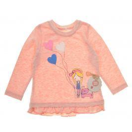 Garnamama Dievčenské tričko s dievčatkom - oranžové