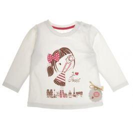 Garnamama Dievčenské tričko s dievčatkom - biele