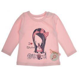 Garnamama Dievčenské tričko s dievčatkom - ružové