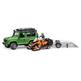 Bruder Land Rover s vlekom, snežným skútrom a príslušenstvom