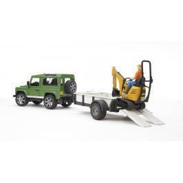 Bruder Land Rover s pásovým nakladačom JCB a postavičkou