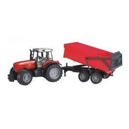 Bruder Farmer - Traktor Massey Ferguson s prívesom