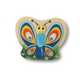 Eichhorn Drevené puzzle 2D zvieratká - motýľ
