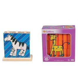 Simba Drevené nasúvacie kocky, 9 kociek so 4 obrázkami