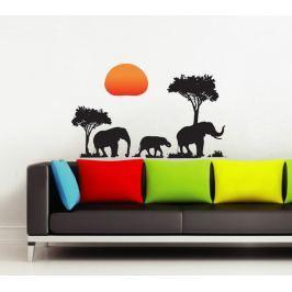 Walplus Samolepka na stenu Slnka a slony, 70x50 cm