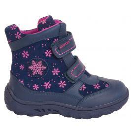 Protetika Dievčenské členkové zateplené topánky Nea - tmavo modré