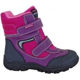 Protetika Dievčenské členkové zateplené topánky Nordik - ružovo-fialové