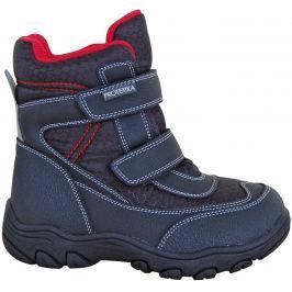 Protetika Chlapčenské členkové zateplené topánky Stadler - čierne