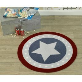 Hanse Home Detský guľatý koberec Hviezda, 100 cm - farebný