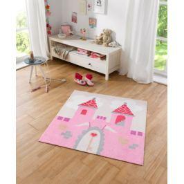 Hanse Home Detský koberec Zámok, 100x100 cm - ružový