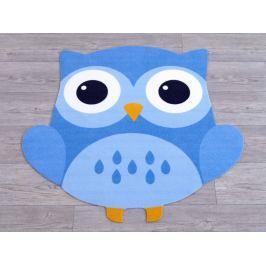 Hanse Home Detský koberec Malá sova, 100x100 cm - modrý