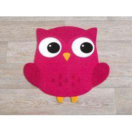 Hanse Home Detský koberec Malá sova, 100x100 cm - ružový
