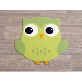 Hanse Home Detský koberec Malá sova, 100x100 cm - zelený