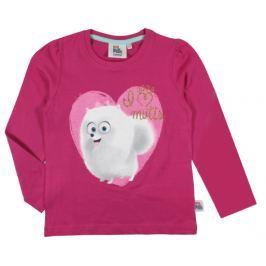 E plus M Dievčenské tričko Tajný život maznáčikov - ružové