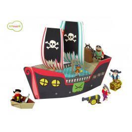 KROOOM Hracia súprava - pirátska loď