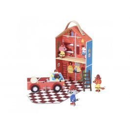 KROOOM Cestovná hracia súprava - hasičská stanica